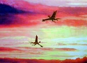 CG dragons in flight