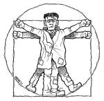 Vitruvian Frankenstein by Graham Edwards