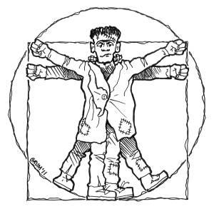 Vitruvian Frankenstein by Graham Edwards