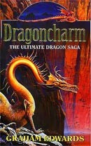 Dragoncharm by Graham Edwards, paperback cover art by Geoff Taylor