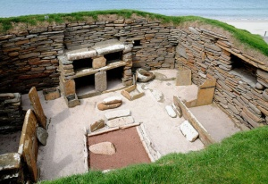 Skara Brae image by Malcolm Morris, via Wikimedia Commons