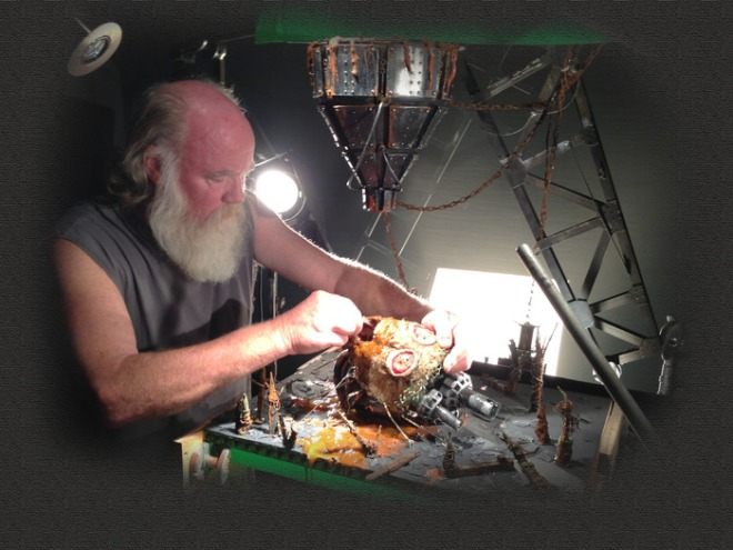 "Phil Tippett fiddling with something nasty for ""Mad God"""