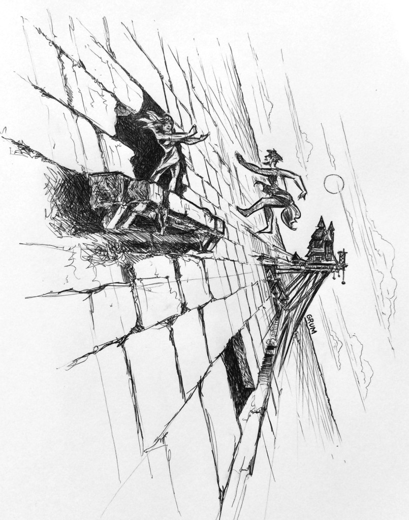 """""""Stone & Sky"""" illustration by Graham Edwards - """"The Push"""""""