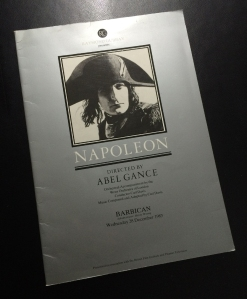 """Napoleon"" at the Barbican, December 1983"