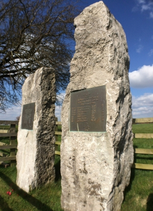 The Lancaster memorial stones, Hoveringham, Nottinghamshire