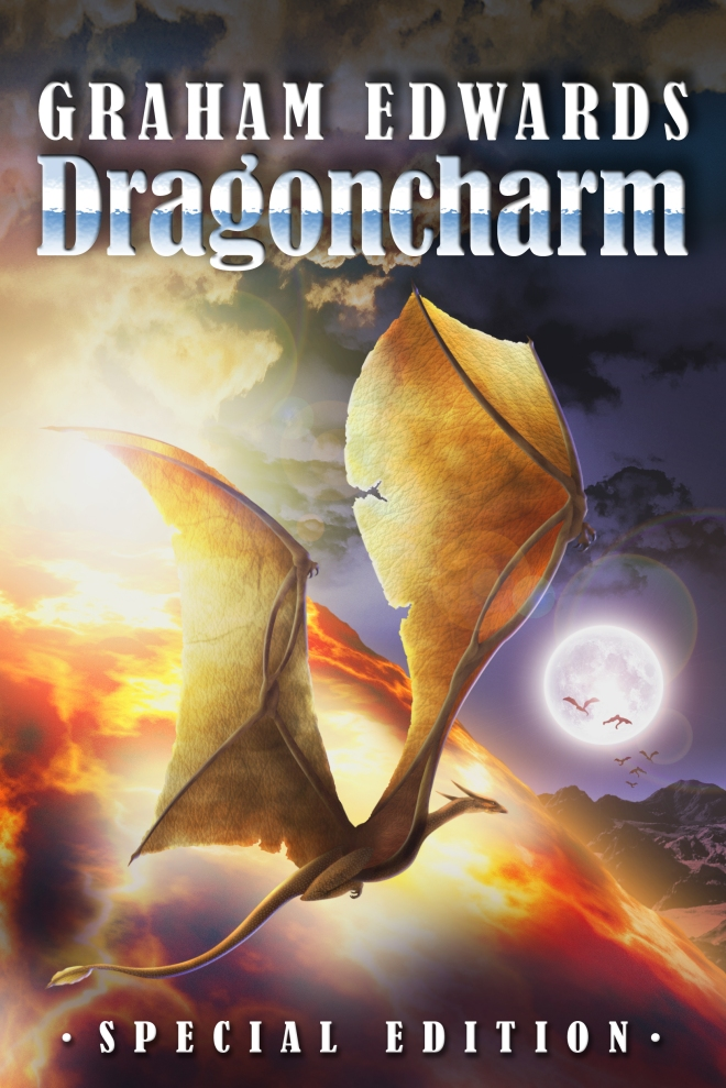 """Dragoncharm - Special Edition"" cover art by Graham Edwards"