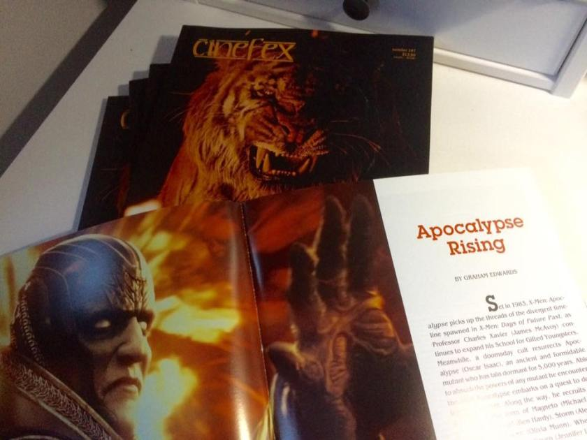 Cinefex 147 - X-Men Apocaylpse article by Graham Edwards