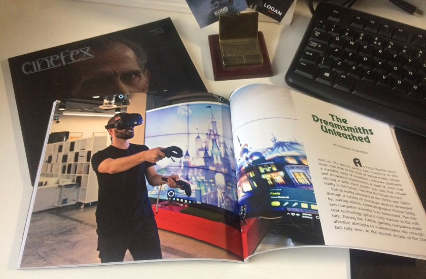 The Dreamsmiths Unleashed - virtual reality in Cinefex 151