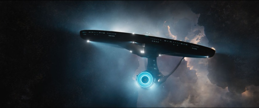 "The USS Enterprise navigates the Necrocloud in ""Star Trek Beyond"""