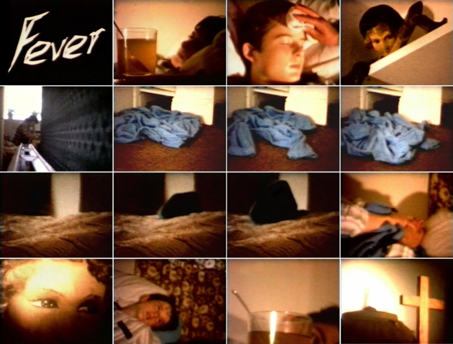 """Stills from """"Fever"""" - 8mm film by Graham Edwards and Phil Tuppin, broadcast on BBC Screen Test in 1981"""