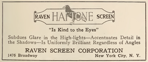 Raven Screen Corporation advertisement, 1926.